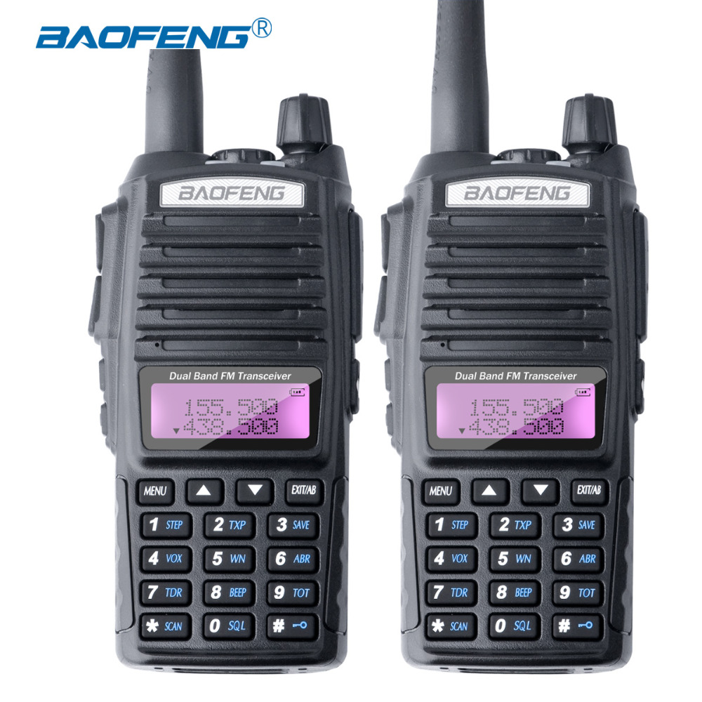 2PCS Baofeng UV-82 Walkie Talkie Canales dobles UV82 Radio CB Botón - Radios