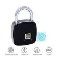 High Quality P3 Smart Fingerprint Padlock Low Power Waterproof Indoor Outdoor Security Digital Lock