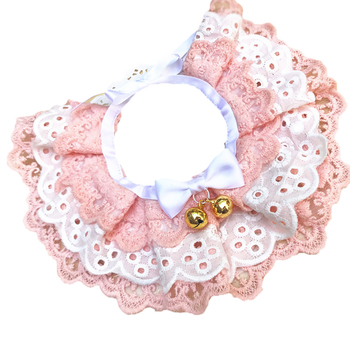 Cute Lace Bowknot Small Bell Pet Collar Bib Dog Accessories