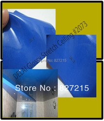 Indoor Roofing Material  # 2073 1.5/1.8/3.2 meter width Dark Blue Glossy  Stretch Ceiling Film--- small order