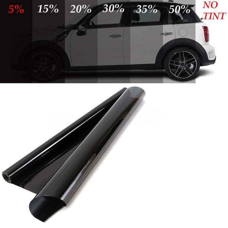 Película de tintado para ventana de coche negro VLT para un rollo de pegatinas de vinilo de vidrio de coche resistente a los arañazos hogar mascota protección Solar