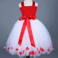 Princess Tutu Full Length Flower Girls Tutu Dress Princess Birthday Gown Party Dress Costume Dressing Up
