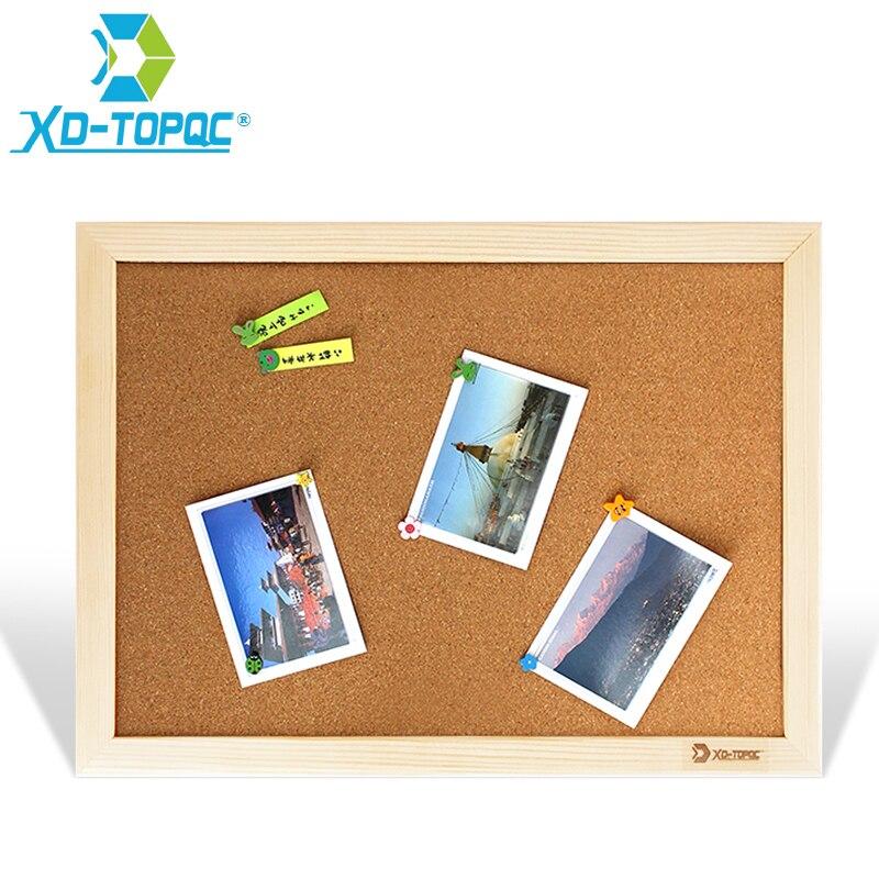 Tablero de corcho XINDI 25*35cm tablón de anuncios tablones de mensajes marco de madera Pin Memo para notas suministros de fábrica decoración para el hogar o la oficina