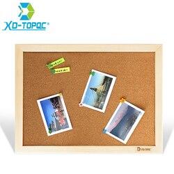XINDI пробковая доска 25*35 см доска объявлений доски для сообщений деревянная рамка штифт для заметок поставка фабрики для дома или офиса, деко...