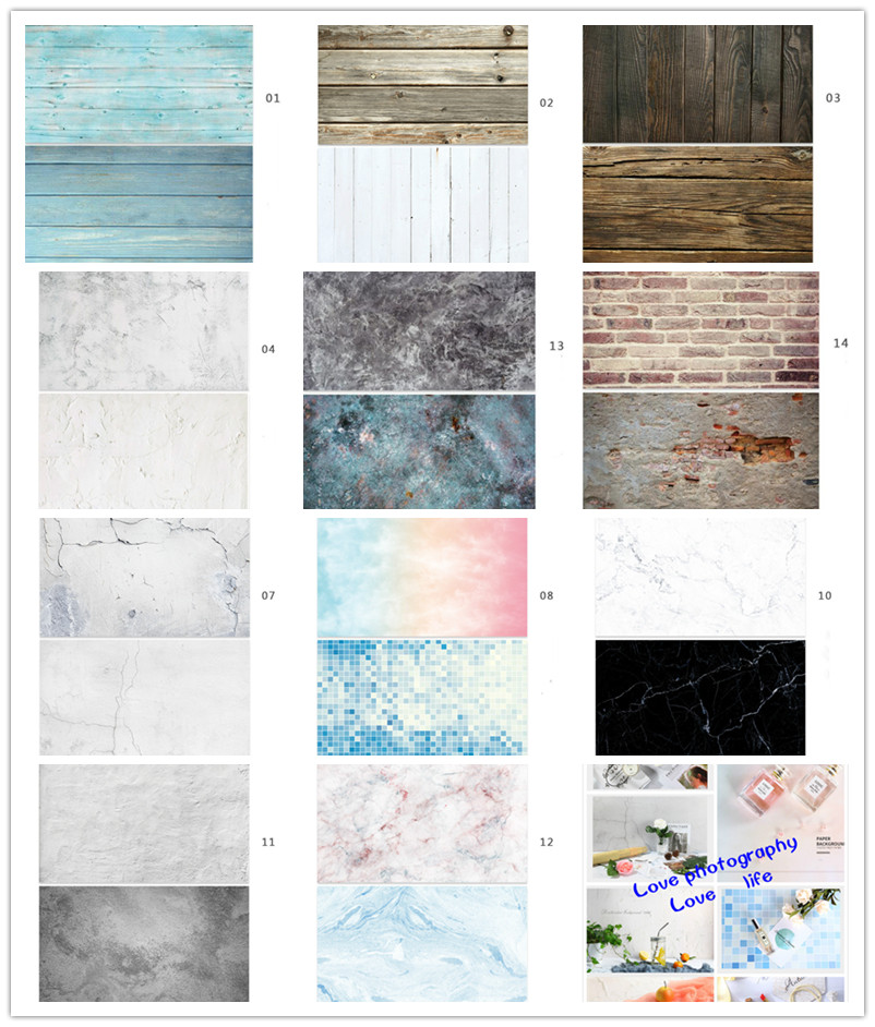 Photo Studio 57*87CM Double Sides Photography Backdrops Waterproof Premium Marble Texture Background For Photo Food Jewelry