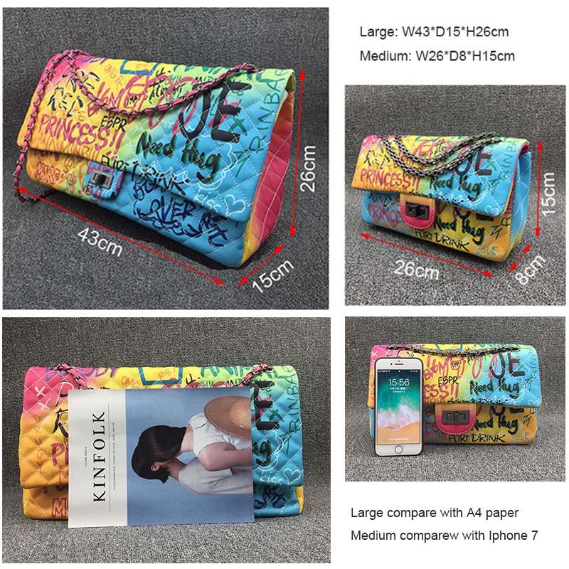 Coloré arc-en-ciel sac pour femmes 2019 grand luxe sacs à main femmes sacs Designer grand voyage sac à bandoulière femmes sacs à main dames main 5