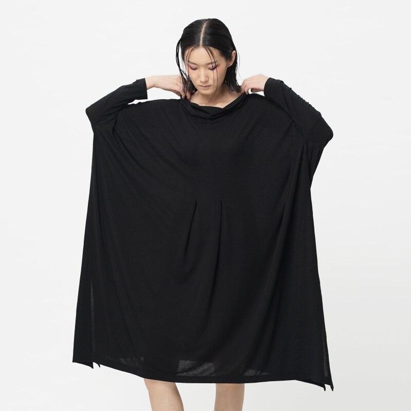 [ LYNETTE'S CHINOISERIE - Qing Chen ] Original design spring autumn women turtleneck  long-sleeve knitted dress xuan qing
