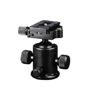 Image 3 - Штатив Manbily для камеры с шаровой головкой, алюминиевый шаровой головкой с панорамной головкой, раздвижная рельсовая головка с 2 встроенными уровнями духов для DSLR съемки