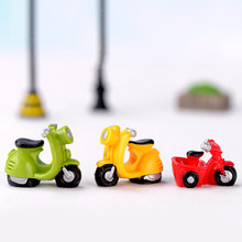 ZOCDOU 1 Piece Motorcycle Bike Motorbike Car Vehicle Small Statue Figurine Buy Vegetables Crafts Ornament Miniatures Decor DIY(China)