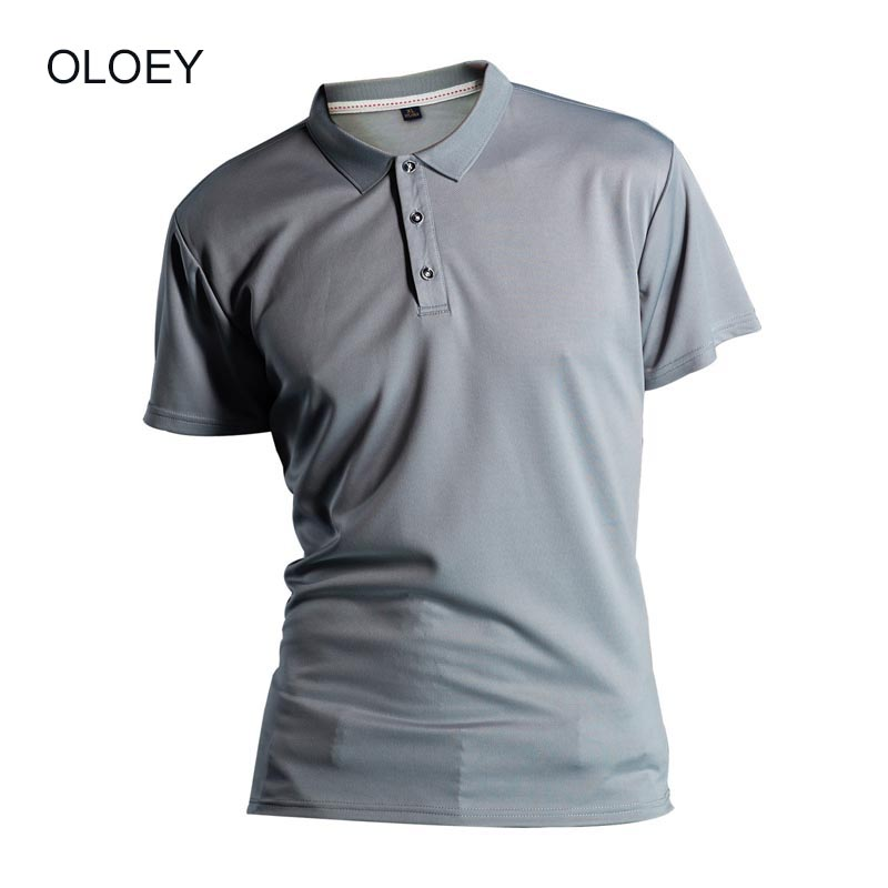 OLOEY 2019 summer mens   polo   shirts with short sleeve Quick drying Sport   polo   shit orange mens Solid color Sweat shirt brands