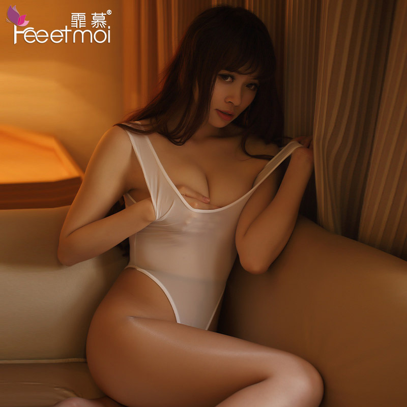 2018 Nouveau Transparent Femmes Élastique Sexy Lingerie Uniforme Séduction Glace Soie Babydoll Chaude Érotique Ouvert Entrejambe SM Lingerie