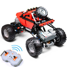 489PCS Technic Series Block RC Car Model sports car SUV DIY Building Block Compatible with LegoINGly Car Brick Toys For Children(China)