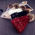 Das mulheres das Senhoras Inverno Quente Fur Pom Bobble Bola Malha Chapéu de Crochê Beanie Cap Ski SYT9109