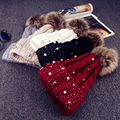 Womens Ladies Winter Warm Fur Pom Ball Bobble Knit Hat Crochet Beanie Ski Cap SYT9109