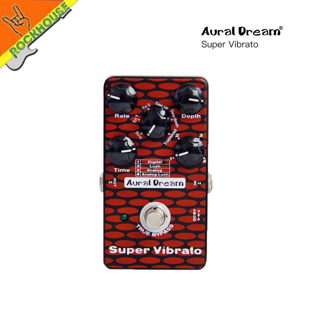 Auraldream Super Vibrato Guitar Effect Pedal Digital Vibrato Guitarra Effects Pedal 6 Vibrato models True Bypass Free Shipping виниловая пластинка grateful dead the grateful dead 50th anniversary