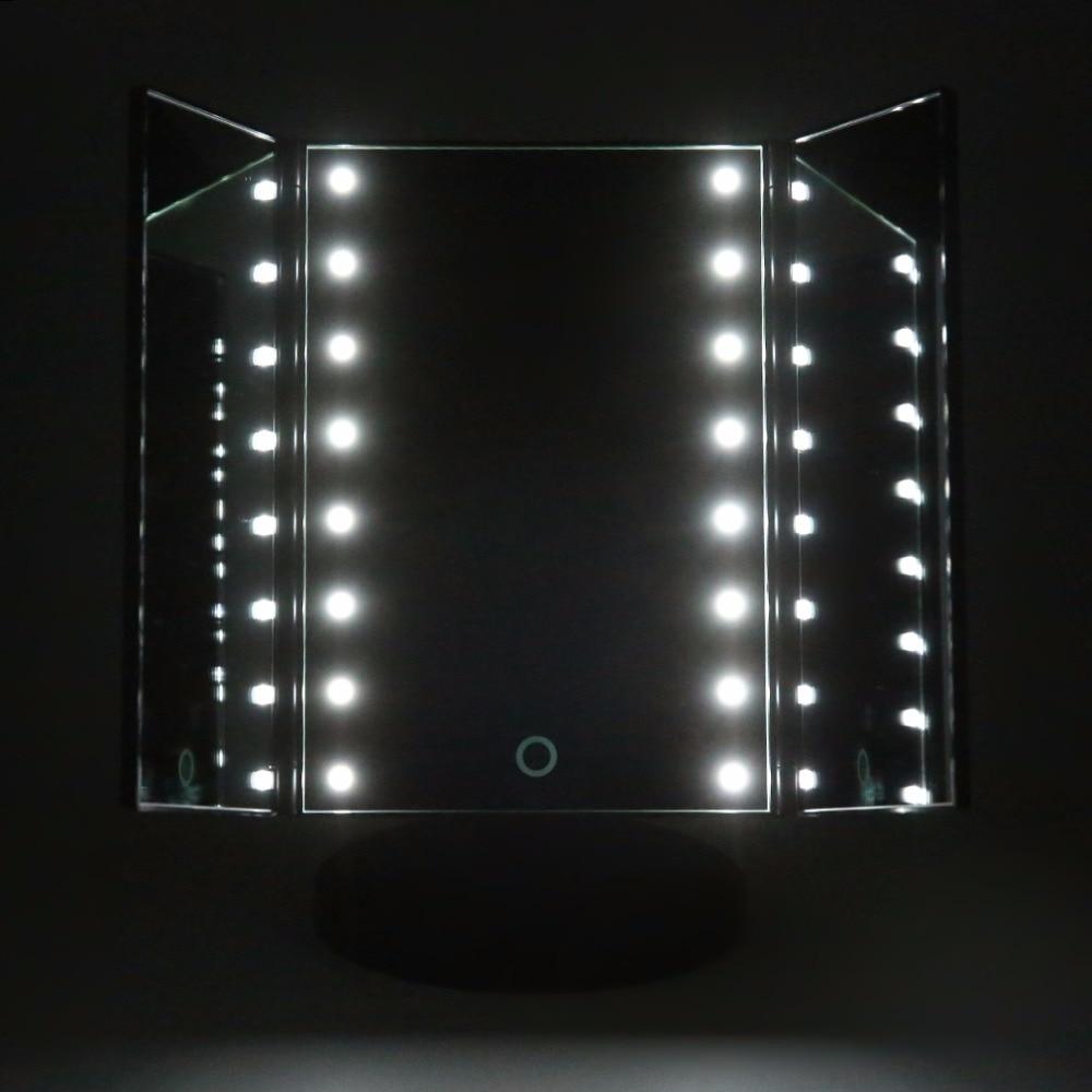 Professionele LED Verlichte Make upspiegel Draagbare Cosmetische ...