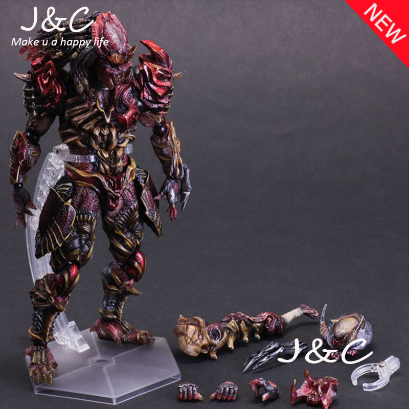 NEW Play Arts Kai Predator Figure Alien Hunter Primevil Figure PA 27cm PVC Action Figure Doll Toys Kids Gift