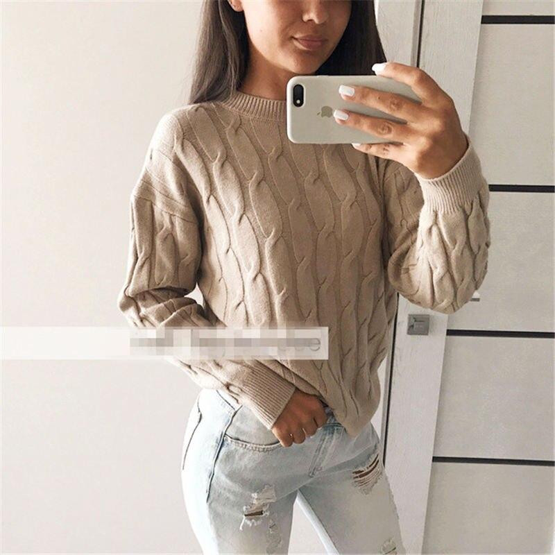 женские свитера с длинными рукавами вязаные женские пуловеры