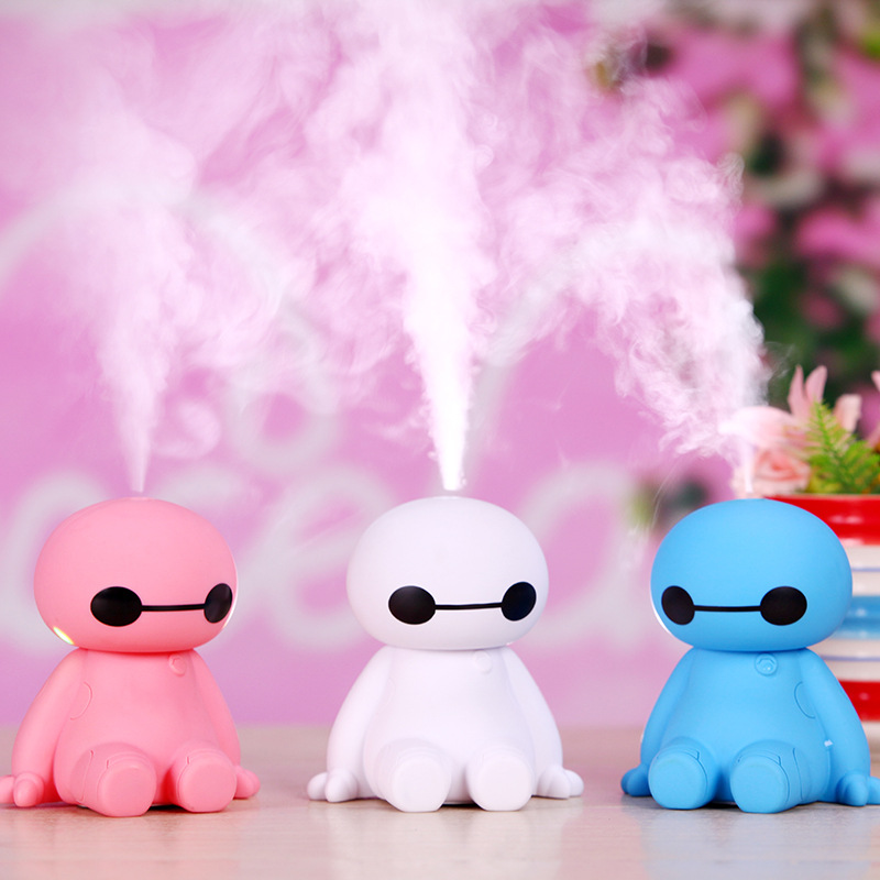 цена на Cute Cartoon USB Portable Air Humidifier Ultrasonic Mini Essential Oil Aroma Diffuser Home Office Mist Maker Fogger Air Purifier