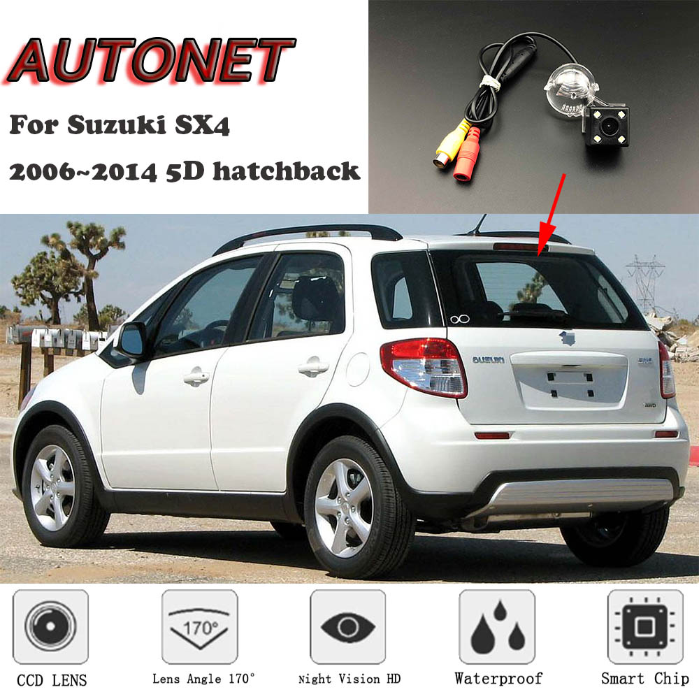 AUTONET Backup Rear View Camera For Suzuki SX4 2006~2014 5D Hatchback Night Vision/license Plate Camera/parking Camera