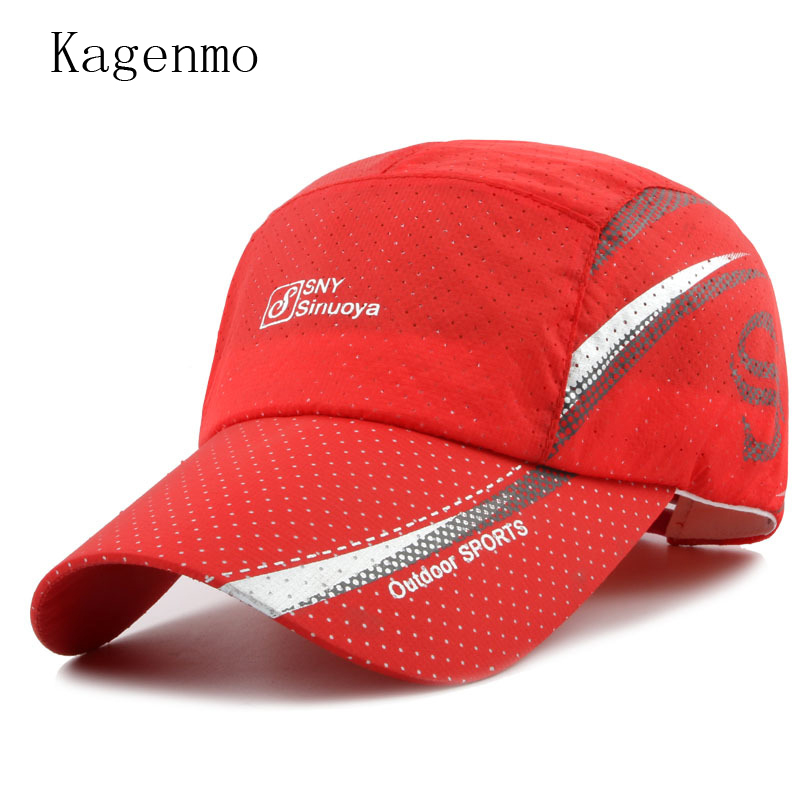 Kagenmo Fashion Summer Baseball Cap Mesh Male Hat Cap For Women Casual Mesh Visor Adjustable Sun Hat Cotton Thin Breathable joymay quick drying casual baseball cap breathable snapback sun hat fishing hat fashion cap b293