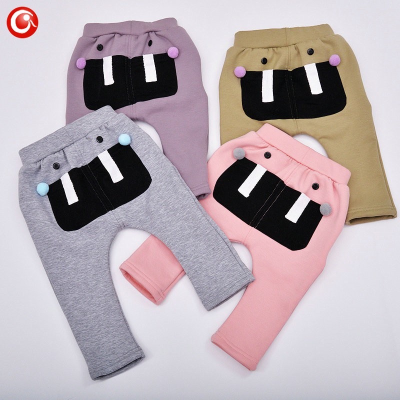 7-24M Baby Winter Tights For Boys Warm Plushed Kids PP Pants For Girls Infantil Bebes Thicken Trousers Clothes 2016  (12)