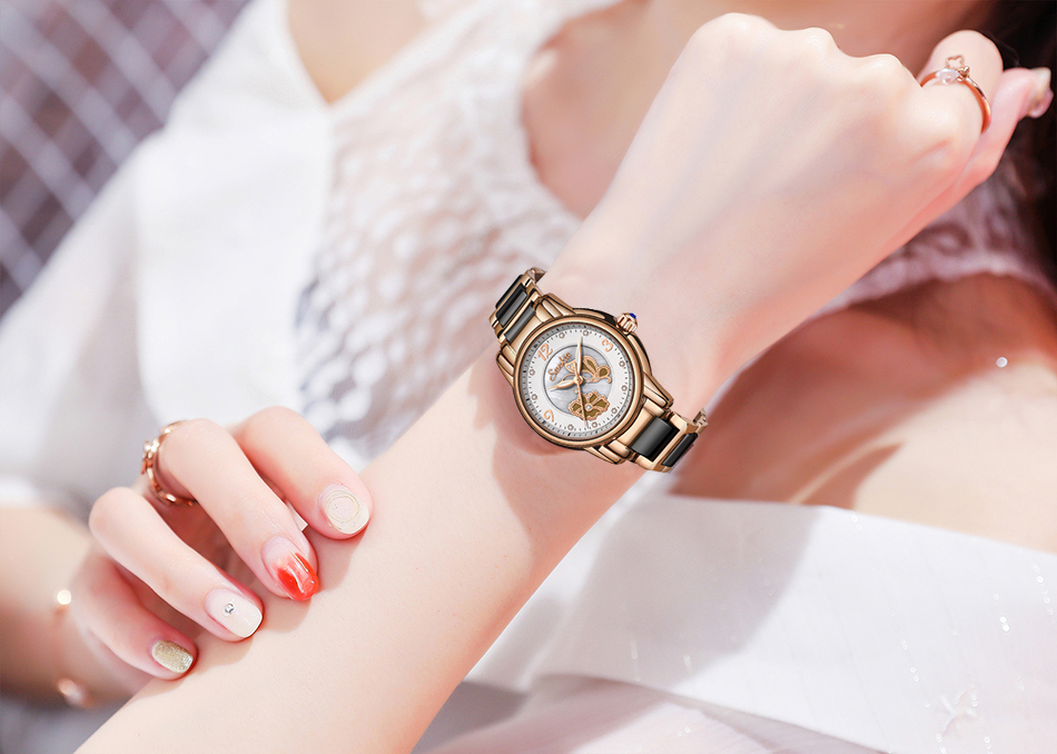 Ladys Cerâmica Relógio À Prova D' Água
