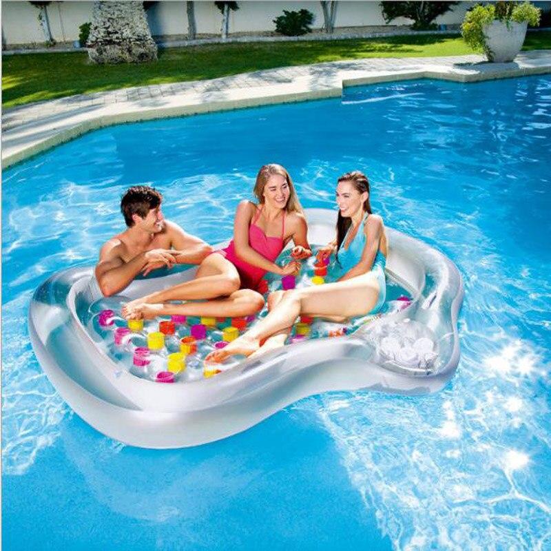 Double gonflable ligne flottante lit flottant lit d'eau flottant bateau plage tapis coussin d'eau Bestway matelas gonflable piscine