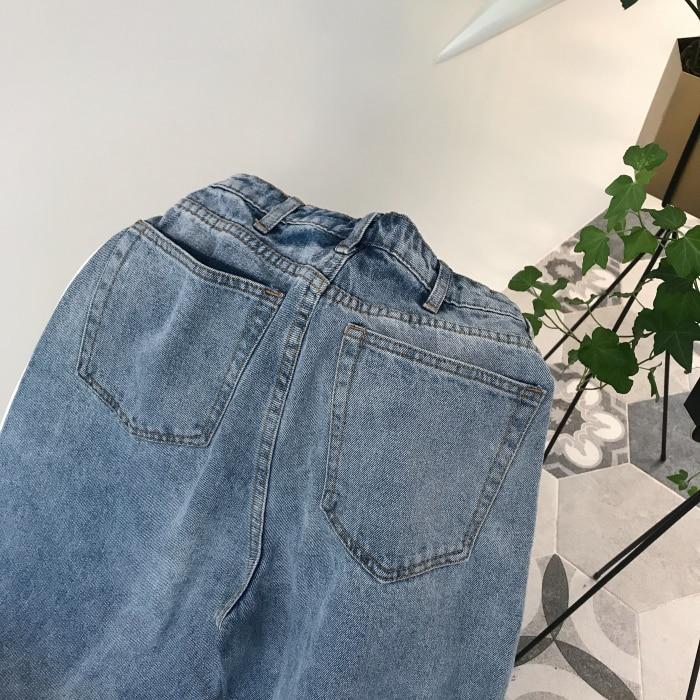 GUUZYUVIZ Loose Vintage Woman Jeans 17 Autumn Bleached Casual Boyfriend Curl Denim Wide Leg Pants Oversize High Waist Jean 16