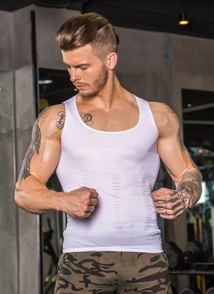 NEW Shapewear Waist Girdle Vest Shirt Handsome Tunic Gentleman Men Bodysuit Slimming Tummy Shaper Belly Underwear plus size tops (5)
