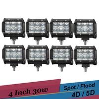 30 W Offroad led Bar 4 Cal Led-oświetlenie robocze Światła Przeciwmgielne Samochodów dla Dodge Ram Pickup Truck Trailer SUV 4X4 4WD UTE Jazdy Reflektory
