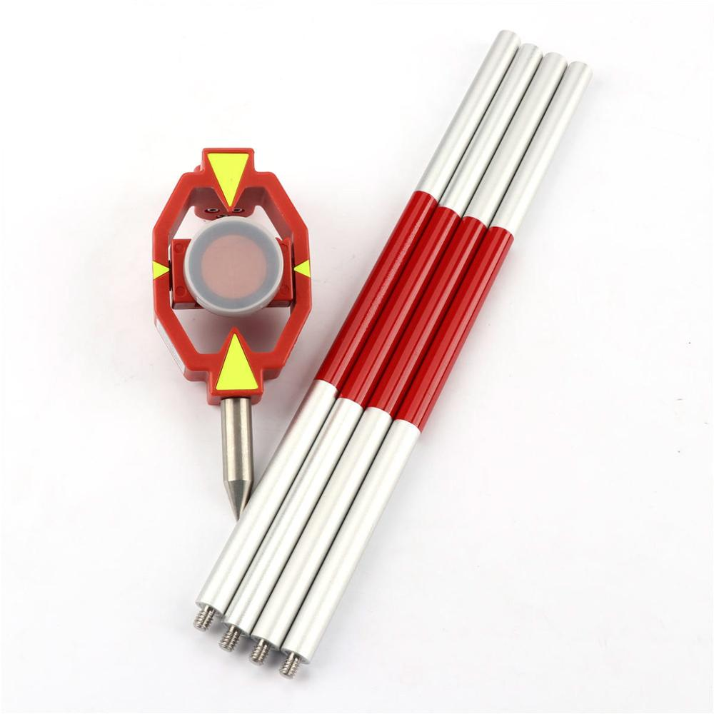 New Aluminium Alloy With 4 Poles Mini Prism For Total Station Leica +17.5Mm