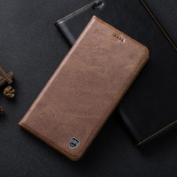 Genuine Leather Magnetic Case For Xiaomi Redmi Note 4X Denim Lines Retro Luxury Stand Flip Mobile