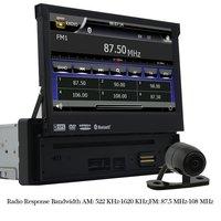 Eincar 7 ''моторизованный сенсорный dvd-плеер автомобиля в тире GPS навигации цифрового мультимедиа bluetooth fm/am приемник + сзади Камера