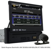 "Eincar 7"" Motorized Touchscreen Car DVD Player in dash GPS Navigation Digital Media Bluetooth FM/AM Receiver+Rear Camera"