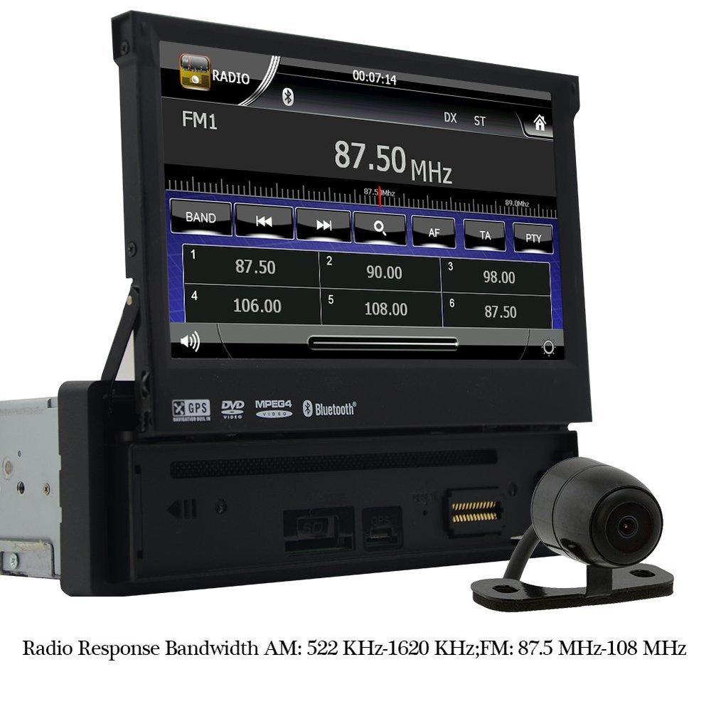 Eincar 7 Motorized Touchscreen font b Car b font DVD Player in dash GPS Navigation Digital