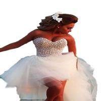 2018 Горячая Настоящее Сексуальная краснея Онлайн бисером тюль для юниоров Холтер милый халатик De Свадебные платья на заказ
