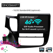 SINOSMART Car Radio Navigation GPS Player for Peugeot 4007 Mitsubishi Outlander Citroen C-Crosser 32EQ DSP Hi-fi Sound Optional(China)