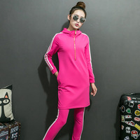 2017 New Spring Comfort Long Loose Long Sleeved Sweater S Casual Sportswear Two Pant Suit