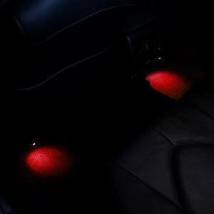 Image 4 - QHCP LED Auto Luci Datmosfera Suole Ambient Mood Lampada Interna Del Piede Decorativo in Forma di Luce Per Toyota Camry 2018 Auto Accessori