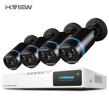 H.VIEW Security Camera System 8ch CCTV System 4 1080P CCTV Camera 2.0MP Camera Surveillance Kit 8ch DVR 1080P HDMI Video Output