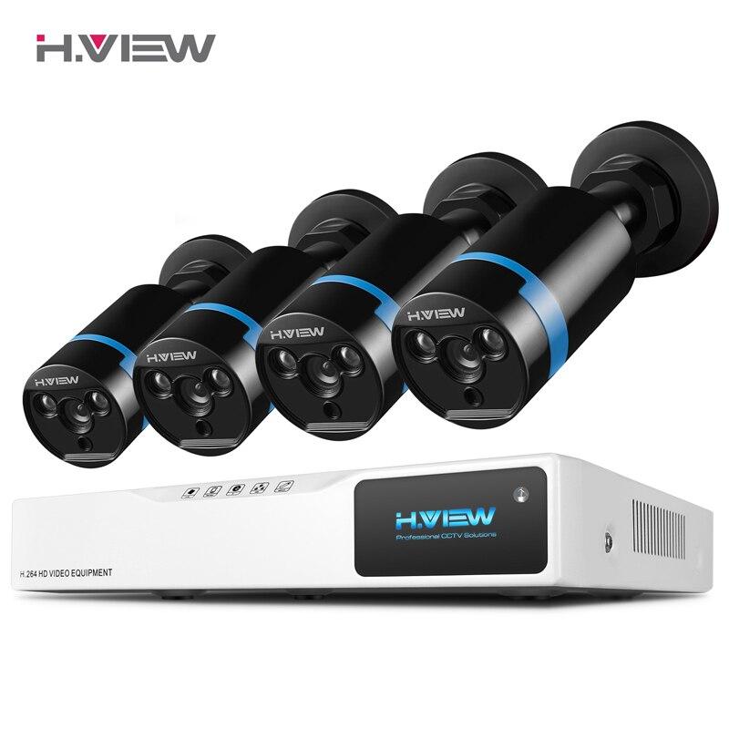 H. ver cámaras de seguridad del sistema 8ch CCTV sistema 4 1080 p CCTV Cámara 2.0MP Cámara Kit de vigilancia 8ch DVR 1080 p salida de vídeo HDMI