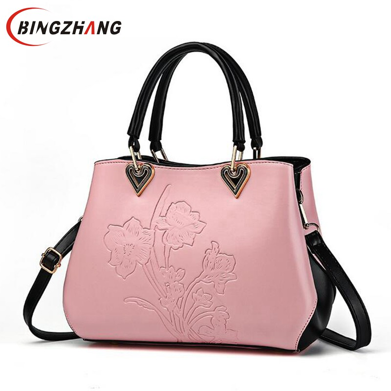 Women Zipper Bag Flower Quality Bags Party Casual Tote Lady Shoulder Bag Fashion Handbag Colorful Messenger Bags Sac L4-3023 aosbos fashion portable insulated canvas lunch bag thermal food picnic lunch bags for women kids men cooler lunch box bag tote