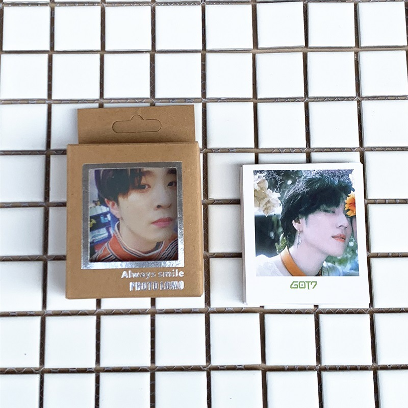 40Pcs/set KPOP Got7 Lomo Photo Card PVC Cards Self Made Card Photocard
