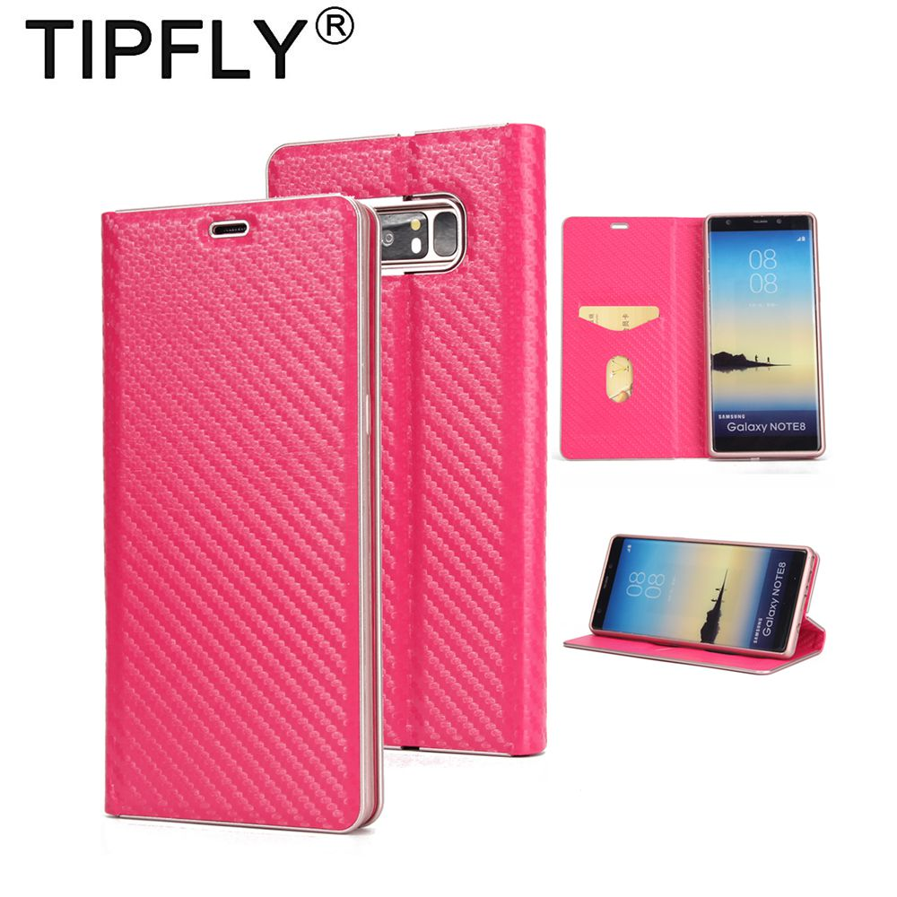 Tipfly кожаный чехол для Samsung Note8 Встроенная чехол для Galaxy Note 8 7 s край Чехлы-перевёртыши Жесткий PC Рамки крышка телефон Корпус Капа