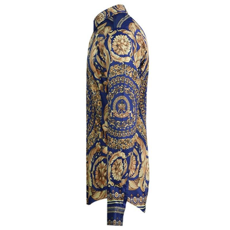 원래 새로운 국가 전통 패턴 남자 셔츠 패션 인쇄 클래식 남자 셔츠-에서캐쥬얼 셔츠부터 남성 의류 의  그룹 2