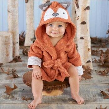 9c0d788b4 0-6 años bebé Toalla de baño recién nacido mantas Animal lindo Albornoz de  algodón traje de baño con capucha Infantil los niños Terry pijamas de abrigo