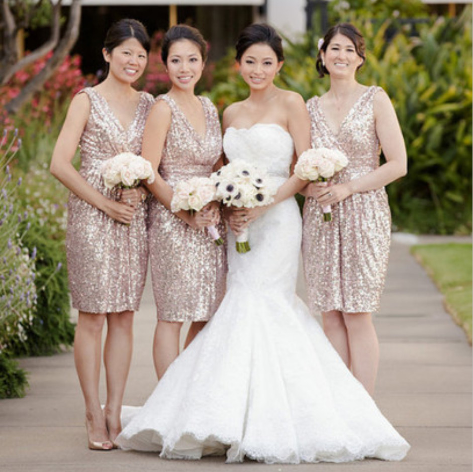 Online get cheap gold and coral dress aliexpress alibaba group short wedding gold sequin bridesmaid dress coral 2016 plus size ruffles v neck vestido curto bridesmaid dresses ombrellifo Image collections