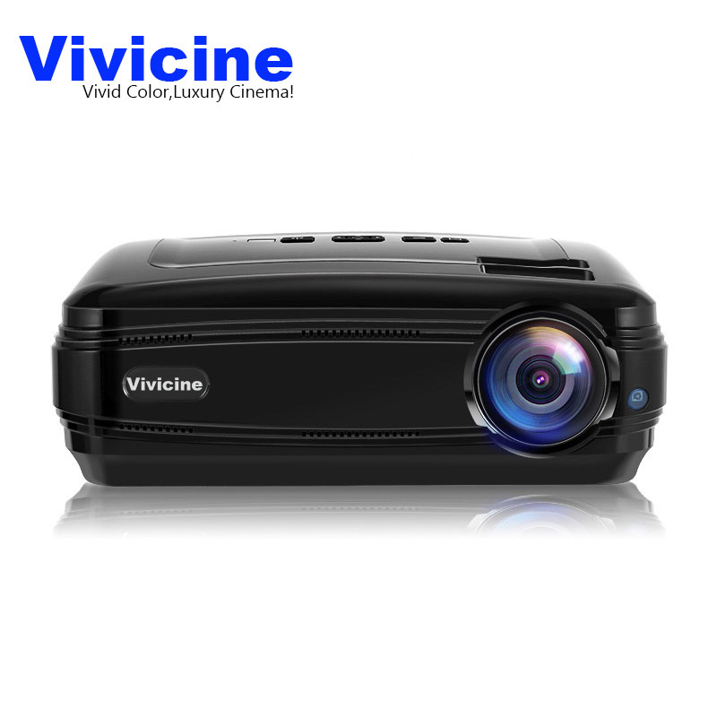 Vivicine 2018 Newest WIFI Android 6.0 1080P HD LED Video Projector 3D 3500Lumens Smart Beamer Home Cinema Proyector Beamer wzatco 5500lumen android smart wifi 1080p full hd led lcd 3d video dvbt tv projector portable multimedia home cinema beamer
