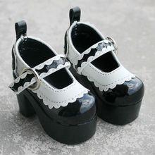 [Wamami] 55 # черный 1/4 msd dz aod бжд dollfie высокие каблуки кожаные ботинки